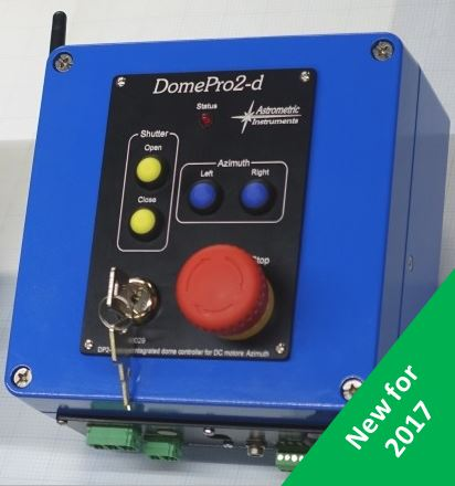 Astrometric DomePro2 controller that controls domes from Ash Manufacturing, Astro Haven, Technical Innovations, Explora Dome, Sirius, and others