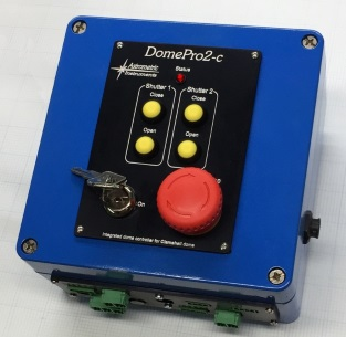 An image of a DomePro2-c module that controls the two sides of the clamshell and provides independent closure of either side to any angle.